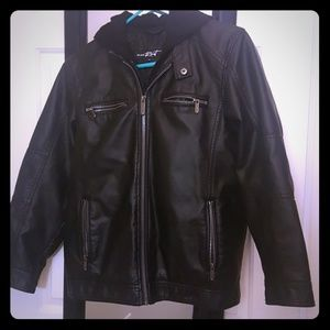COPY - Boys faux leather black jacket